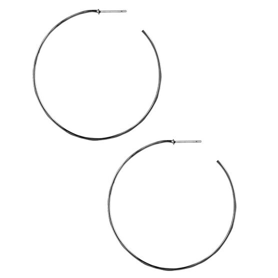Robert Lee Morris Silver Hammered Medium Wire Hoop Earrings