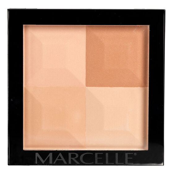 Marcelle Quad Pressed Powder - Dark