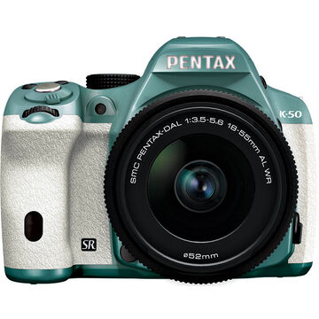Pentax K-50 w/18-55 WR Kit - Mint Green Body