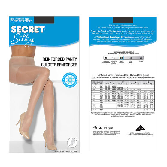 Secret Regular Silky Sheer Pantyhose - C - Nightshade