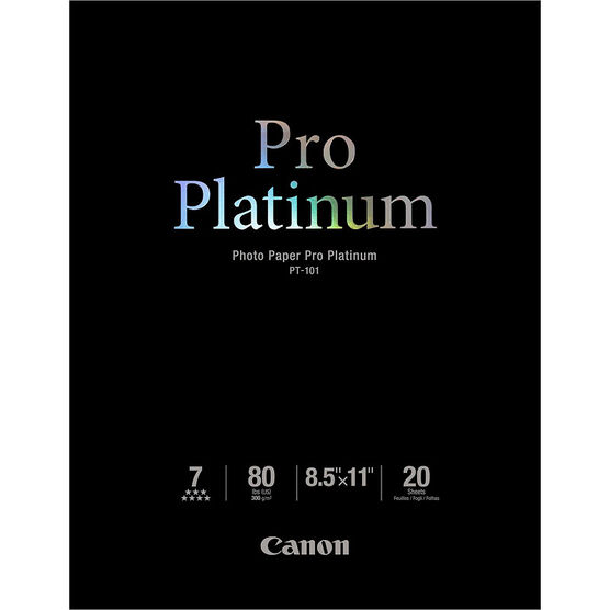 Canon PT-101 Photo Paper Pro - Platinum - 8.5 x 11 inch - 20 sheets - 2768B022