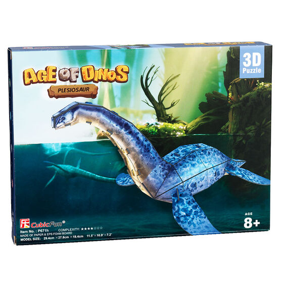 Age of Dinos Plesiosaur Paper/Foam 3D Puzzle - 35 Pieces