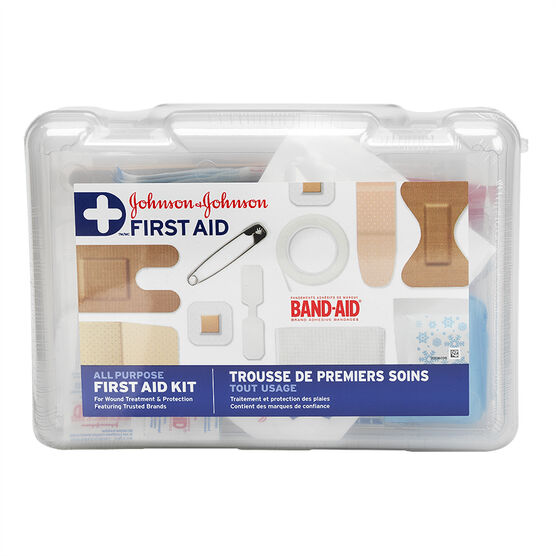Johnson & Johnson First Aid Kit - 100 piece kit