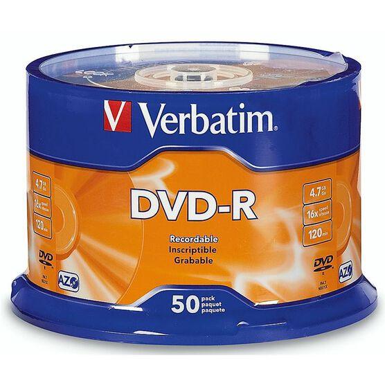 Verbatim DVD-R 4.7GB 16X - 50 pack - 95101