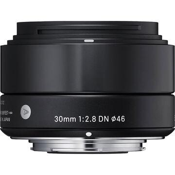 Sigma Art 30mm F2.8 DN Black Lens for Micro Four Thirds - A30DNBKMFT
