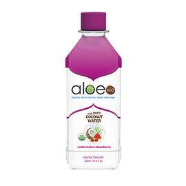 Aloe H20 Organic Aloe + Coconut Water Beverage - Watermelon-Strawberry - 500ml