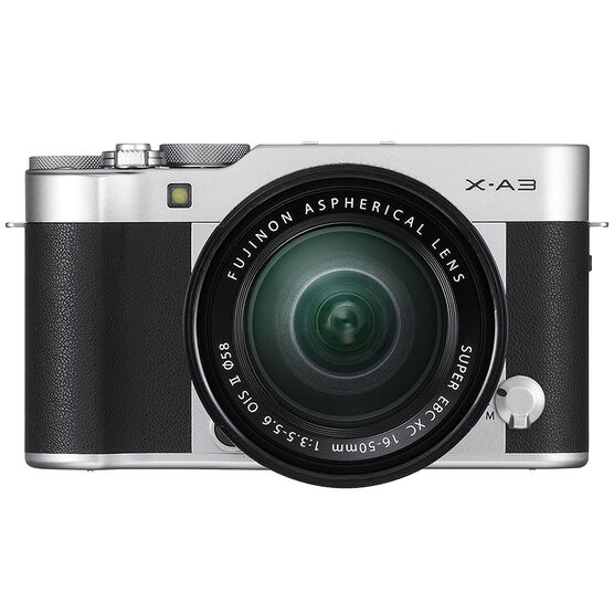 Fujifilm X-A3 with XC 16-50mm OIS II Lens - Black/Silver - 600017209