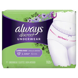 Always Discreet Underwear Lower Rise - Large - 17's