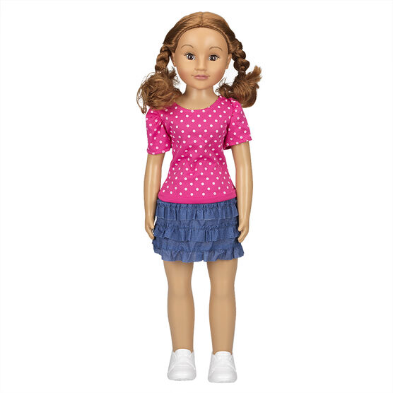 Wispy Walker Doll - Polka Dot Top - 28 inches