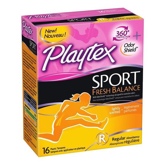 Playtex Sport Fresh Balance Tampons - Regular - 16's