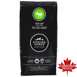 Kicking Horse Organic Whole Bean Dark Coffee - Kick Ass – 454g