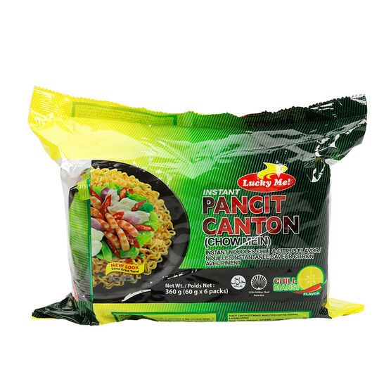 Lucky Me Instant Chow Mein Noodles - 6x60g