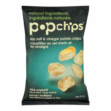 Popchips Popped Chip Snack - Sea Salt & Vinegar - 85g