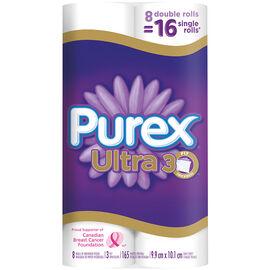 Purex Ultra Double Roll Bathroom Tissue - 8's