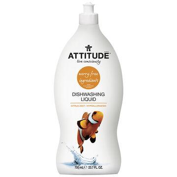 Attitude Dish Soap - Citrus Zest - 700ml