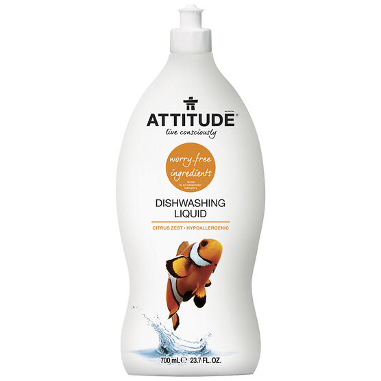 Attitude Dish Soap - Citrus Zest - 700ml