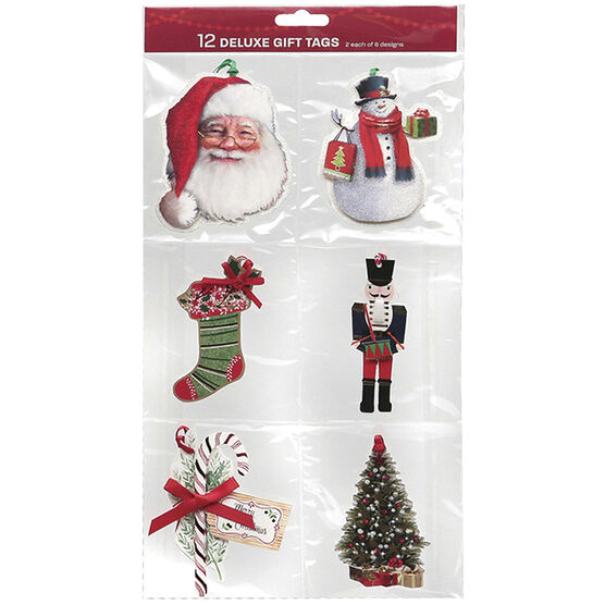 Christmas Accent Pack Gift Tags - 12 tags - 92102A - Assorted