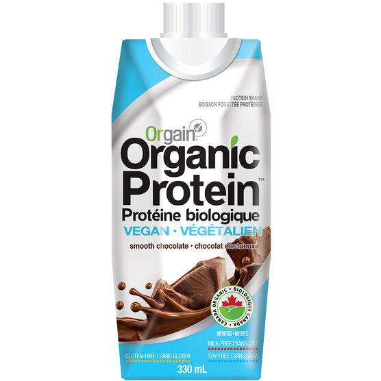 Orgain Organic Protein Vegan Shake - Smooth Chocolate - 330ml