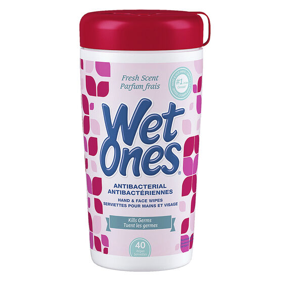 Wet Ones Anti-Bacterial Wipes - 40's