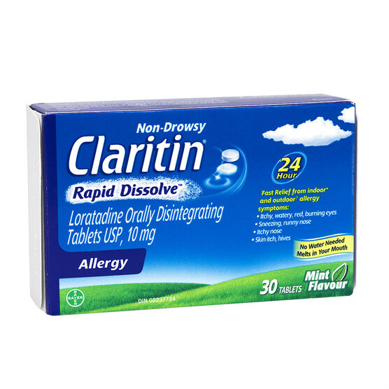 Claritin - Non-Drowsy - Mint - 30 rapid dissolve tablets