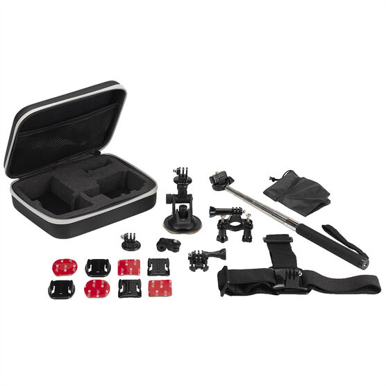 Optex Action Camera Accessory Kit - 13 Piece - GPAKIT10
