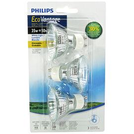 Philips Ecovantage GU10 Light Bulb - 3 pack