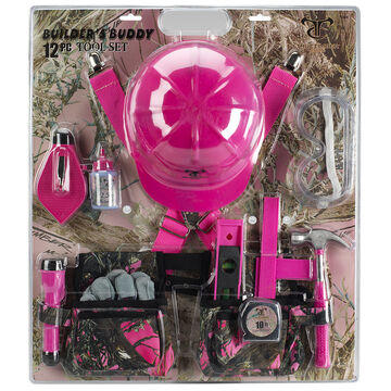Builder's Buddy 12-Pice Tool Set - Pink