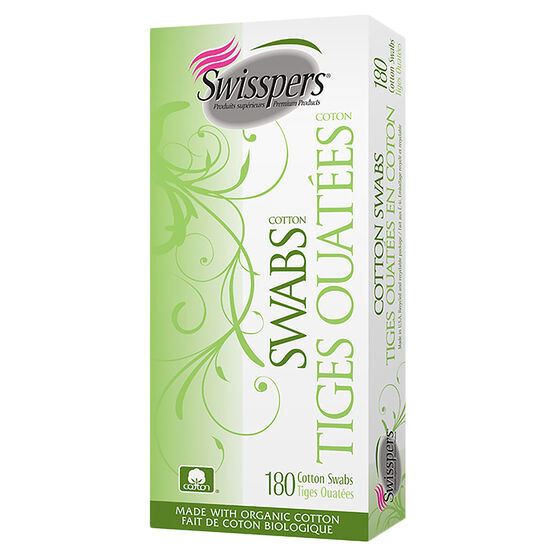 Swisspers Organic Cotton Swabs - 180's