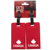 Kootenay Knit Canada Luggage Tag - 2 Pack - Red - 55103