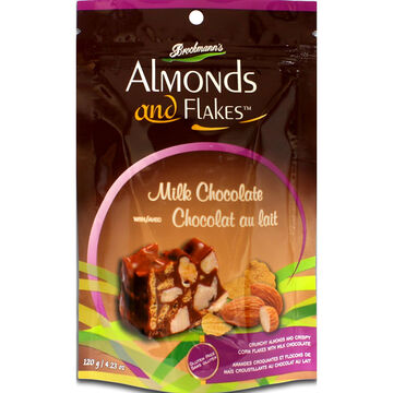 Brockmann's Almonds and Flakes - Milk Chocolate with Almonds - 120g