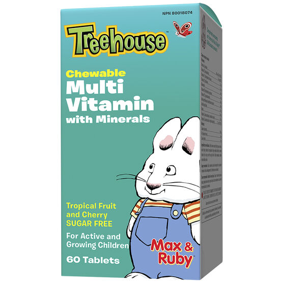 Treehouse Multivitamin with Mineral - Tropical Fruit with Wildberry - 60's