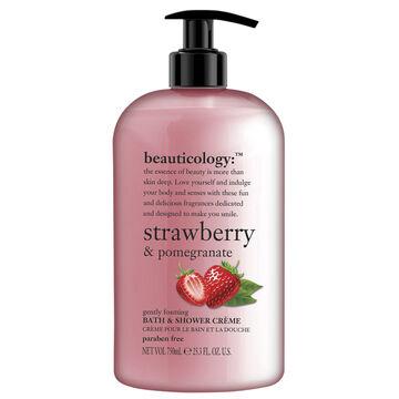 Beauticology Strawberry & Pomegranate Bath & Shower Creme - 750ml
