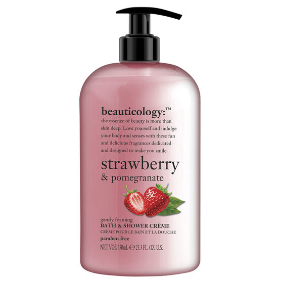Beauticology Strawberry & Pomegranate Bath & Shower Creme - 750ml