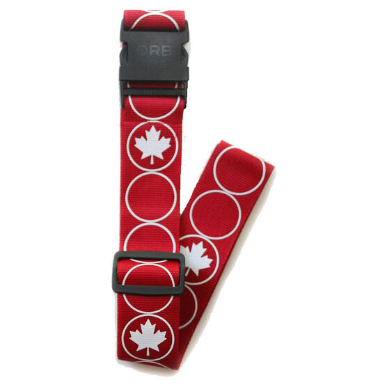 Orb Luggage Strap - Maple Leaf - Red/White - LS240-RW