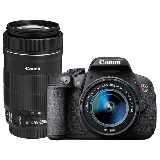 Canon Rebel T5i with 18-55 IS and 55-250mm IS STM Lens