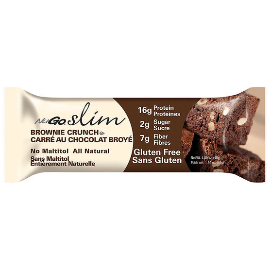 NuGo Slim Protein Bar - Brownie Crunch - 45g