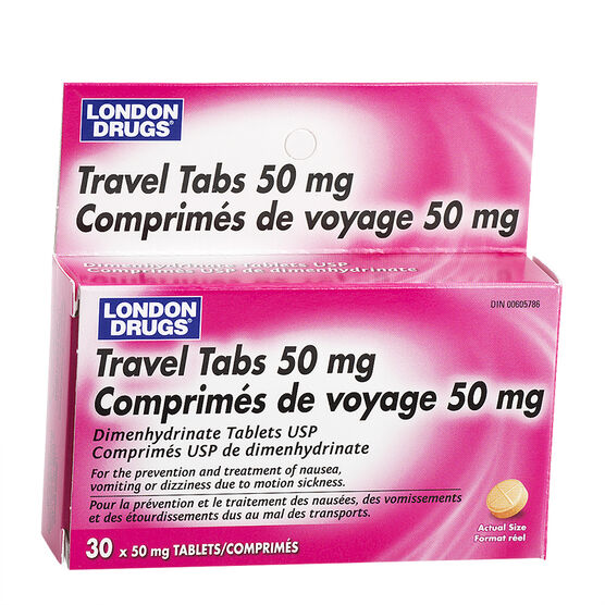 London Drugs Travel Tablets - 30's