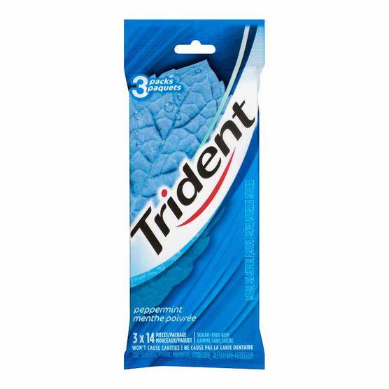 Trident Gum - Peppermint - 3x14 piece