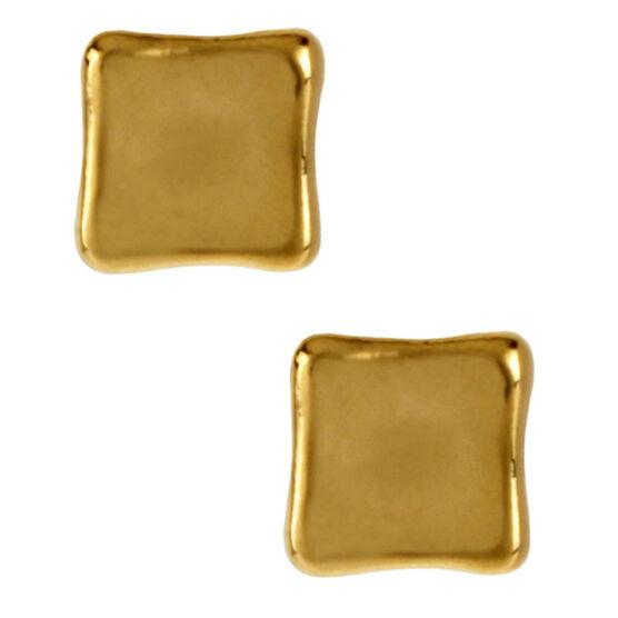 Robert Lee Morris Square Gold Stud Earrings