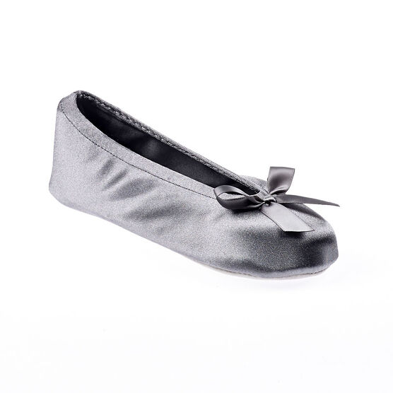 Isotoner Ballerina with Satin Bow Slipper