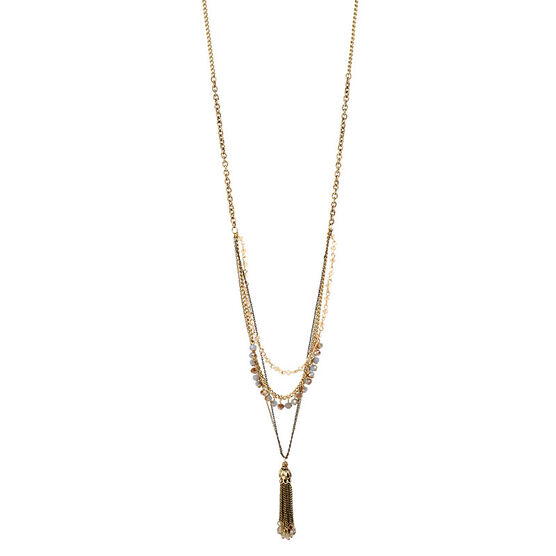 Haskell Tassel Necklace - Gold