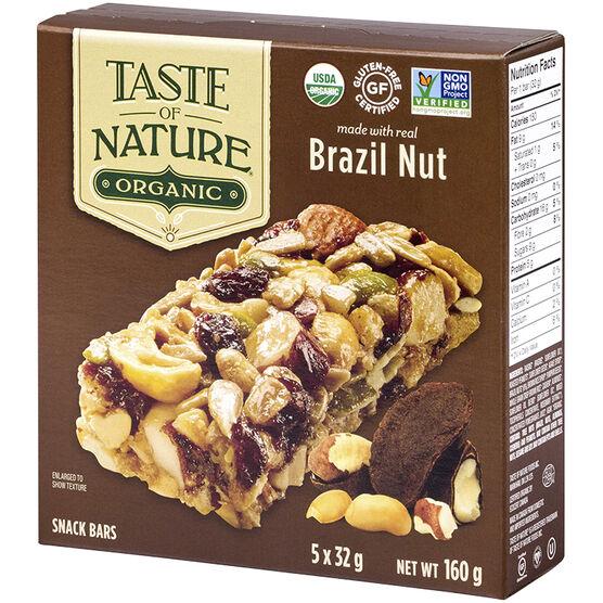 Taste of Nature Organic Food Bar - Brazilian Nut Fiesta - 5x32g