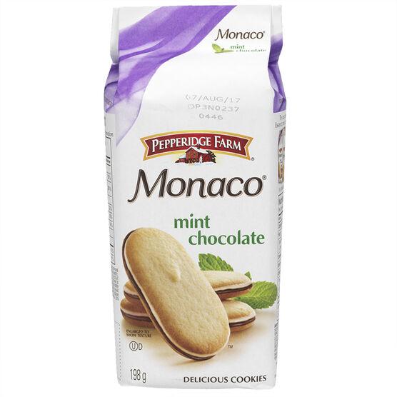 Pepperidge Farm Monaco Mint Cookies - 198g