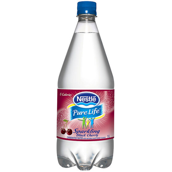 Nestle Sparkling Carbonated Natural Spring Water - Black Cherry - 1L