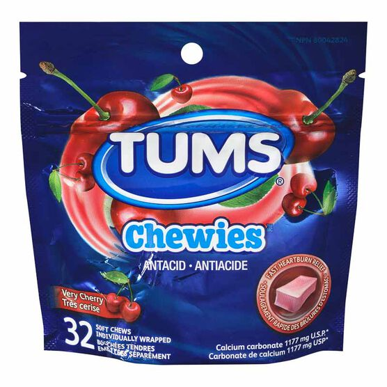 Tums Chewies - Very Cherry - 32's