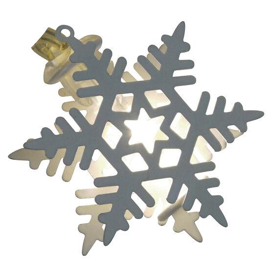 Signature LED Snowflake Ornament - White