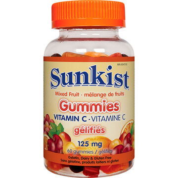 Sunkist Gummies Vitamin C - Mixed Fruit - 60's