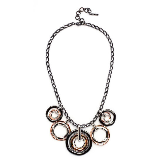 Nine West Shaky Necklace - Tri-Tone