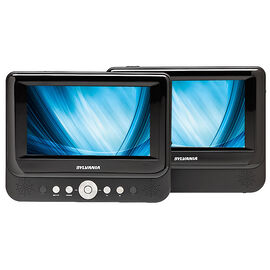 "Sylvania 7"" Dual Screen DVD Player - SDVD8737"