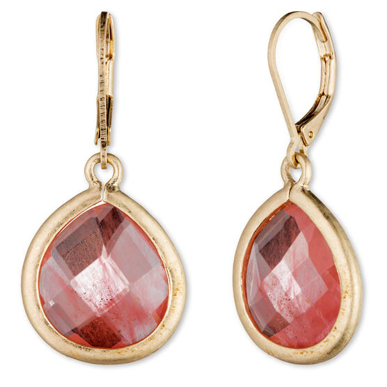 Lonna Lilly Pendant Teardrop Earrings - Pink
